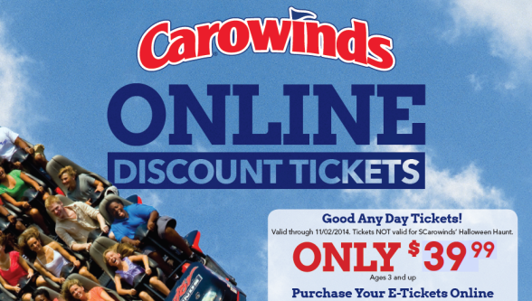 Carowinds tickets coupons