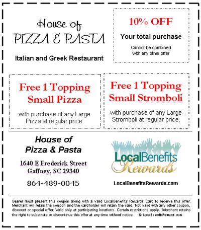 Original house of pizza orangeburg sc menu house plan 2017 for Classic house of pizza